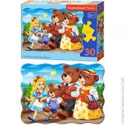 Castorland Puzzle Zlatovláska a 3 medvede, 30 dielikov