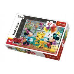 Puzzle Mickey a Minnie oslava narodenín 30 dielikov