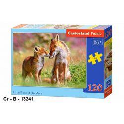Castorland Puzzle Malá líška s mamou, 120 dielikov