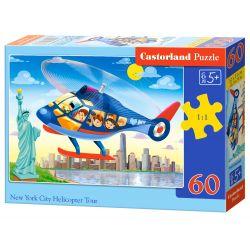 Castorland Puzzle Vrtuľníkom po New Yourku, 60 dielikov