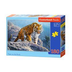 Castorland Puzzle Tiger na skale, 180 dielikov