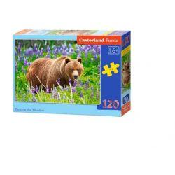 Castorland Puzzle Medveď na lúke, 120 dielikov