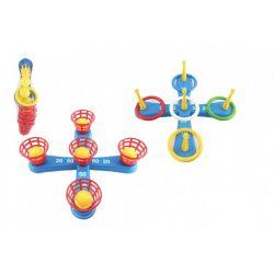 Hra kríž s kruhmi + košíčky s loptičkami