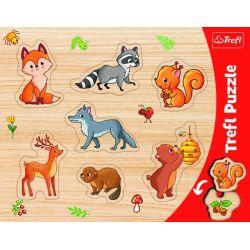 Vkladačka- Puzzle lesné zvieratká