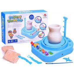 Elektrický detský hrnčiarsky kruh + hlina