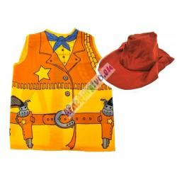 Kostým šerif, vesta + klobúk