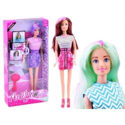 Bábika Anlily s dlhými farebnými vlasmi