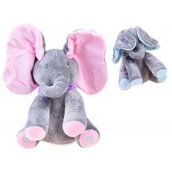 Plyšový sloník - spieva a hýbe ušami