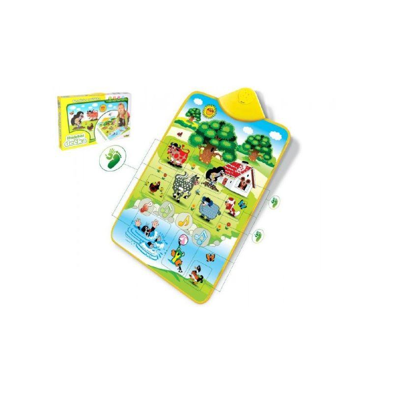 Krtko a zvieratka- elektronická hracia podložka