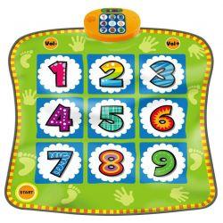 Tanečný koberec s číslami zelený