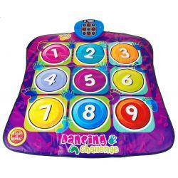 Tanečný koberec s číslami fialový