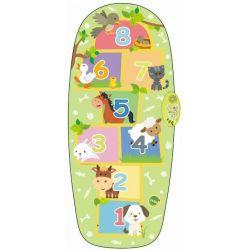 Tanečný koberec škôlka so zvieratkami zelený