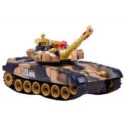 Bojový tank na diaľkové ovládanie 34cm - púštna kamufláž