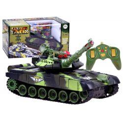 Bojový tank na diaľkové ovládanie 34cm - lesná kamufláž