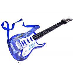 Rocková gitara so zosilovačom a mikrofónom