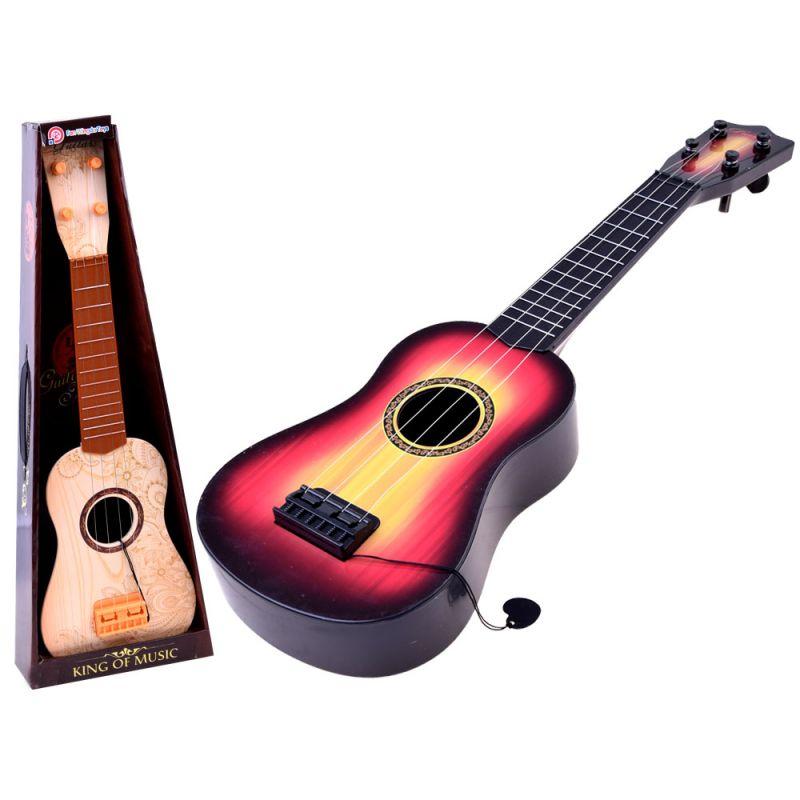 Detská gitara s kovovými strunami a brnkátkom, 2 farby