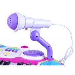 Detské piano so stojanom, stoličkou, mikrofonom, nahravaním, 2 farby