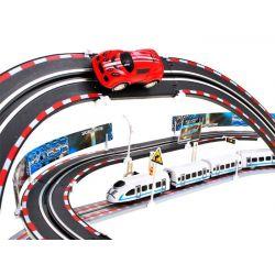 Dvojitá autodráha, vláčik + auto
