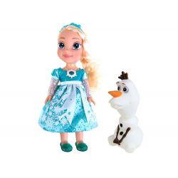 FROZEN – hovoriaca, spievajúca bábika Elza s Olafom, 36 cm