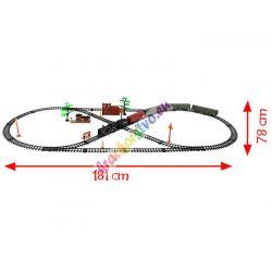 Dymiaci elektrický vláčik nákladný 181 cm