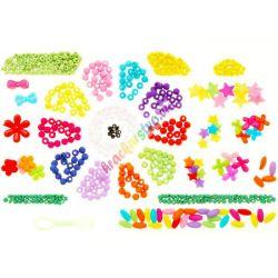 Farebné koráliky, hviezdičky, kvietky