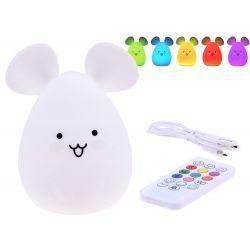 Príjemná dotyková LED lampa s diaľkovým ovládaním: Myška
