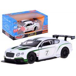 Bentley Continental GT3 kovové športové autíčko  1:32 so svetlom a zvukom, licencia