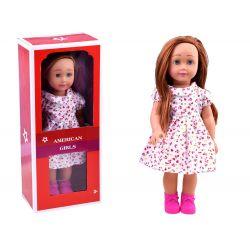 AMERICAN Girls – Krásna veľká bábika s dlhými vlasmi, 45cm v jarných šatách