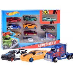 Hot Wheels Racing series 10: 10 kovových autíčok
