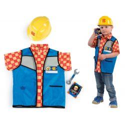 Kostým staviteľ Bob s prilbou