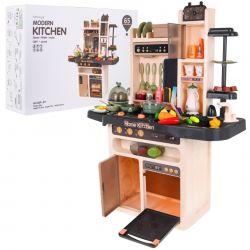Mega veľká detská multifunkčný kuchynka s funkčnou batériou a tabuľou