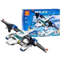 Stavebnica Policajné lietadlo 3v1, 174 dielikov