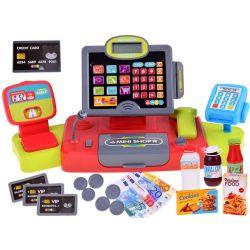 Detská dotyková pokladňa s terminálom, tovarom  a funkciami