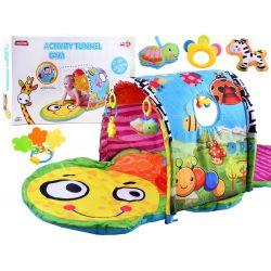 Interaktívna detská hracia podložka s tunelom, Lúka