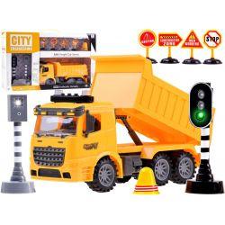 Nákladné auto s funkčným semaforom a značkami, so zvukom a svetlom