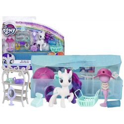 Hasbro: My Little Pony Rarity + salón krásy v kabelke