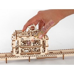 UGEARS  - pohyblivé drevené 3D puzzle, Električka s dráhou