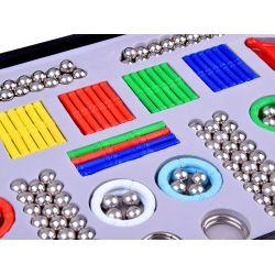 Magnastix Plus – farebné magnetické skladačky 320 ks