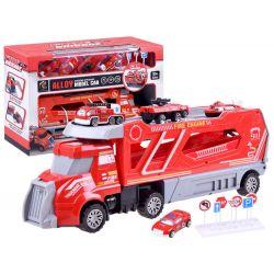 Nákladné auto na prevoz hasičských autíčok + autíčka
