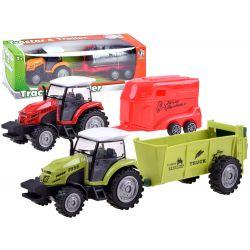 Traktor s vlečkou na zotrvačník, 4 druhy