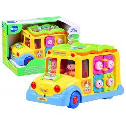 Huile Toys, Interaktívny Autobus so zvieratkami, 12m+