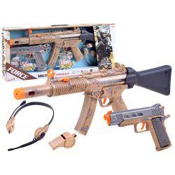 Set pre vojaka: Samopal + pištoľ, zvukové efekty