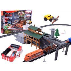 Elektrický vláčik s nákladnými vagónmi a stanicou, na diaľkové ovládanie