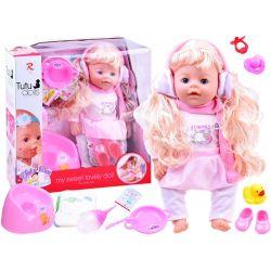 TUTU love bábika s 9 funkciami, pije, je, ciká.. + príslušenstvo