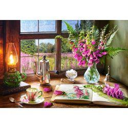 Castorland Puzzle Zátišie s fial.kvety,1000 dielov