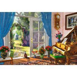 Castorland Puzzle Výhľad do záhrady, 1000 dielov