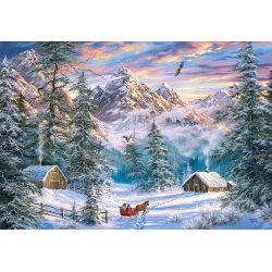 Castorland Puzzle Vianoce v horách, 1000 ks