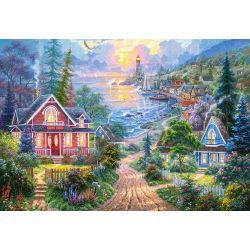 Castorland Puzzle Pobrežné bývanie, 1500 dielov