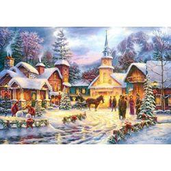 Castorland Puzzle Zasnežená dedinka, 1500 dielikov