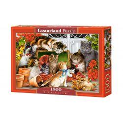 Castorland Puzzle Mačacie hrátky, 1500 dielikov